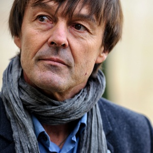 ©Christophe Petit Tesson/MAXPPP - 06/12/2012 ; PARIS ; FRANCE - Nicolas Hulot au Palais de l'Elysee apres une rencontre avec le president de la republique qui l'a nomme envoye special pour la preservation de la planete. French ecologist activist Nicolas Hulot at Elysee palace after a meeting with french president in Paris on December 06, 2012.